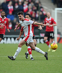 Bristol City's Korey Smith battles for the ball with Milton Keynes Dons' Darren Potter  - Photo mandatory by-line: Joe Meredith/JMP - Mobile: 07966 386802 - 07/02/2015 - SPORT - Football - Milton Keynes - Stadium MK - MK Dons v Bristol City - Sky Bet League One