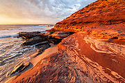 Sunset on the Kalbarri coast, Kalbarri, Australia