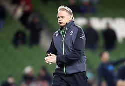 Ireland head coach Joe Schmidt before the Autumn International at the Aviva Stadium, Dublin.