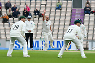 Joe Leach of Worcestershire appeals for the wicket Jimmy Adams of Hampshire which is given not out during the Specsavers County Champ Div 1 match between Hampshire County Cricket Club and Worcestershire County Cricket Club at the Ageas Bowl, Southampton, United Kingdom on 13 April 2018. Picture by Graham Hunt.