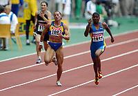 Friidrett, 23. august 2003, VM Paris,( World Championschip in Athletics),   Zhanna Block og Susanthika Jayasinghe, 100 meter