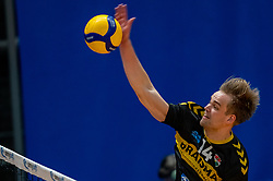 Wessel Blom of Dynamo in action during the second final league match between Amysoft Lycurgus vs. Draisma Dynamo on April 24, 2021 in Groningen.