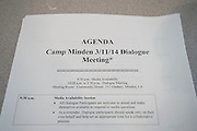 Citizens and officials met on Wednesday to discuss the disposal of 15 million pounds of M6 located at Camp Minden in Minden, Louisiana on March 11, 2015. (Cooper Neill for The New York Times)