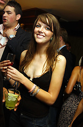 MISS GENEVIEVE CHAPMAN daughter of the Countess of Woolton at Boodles on the Beach -  a party to launch jewellers new collection 'Daiquiri' held at Pangaea, 85 Piccadilly, London W1 on 7th June 2005.<br /><br />NON EXCLUSIVE - WORLD RIGHTS