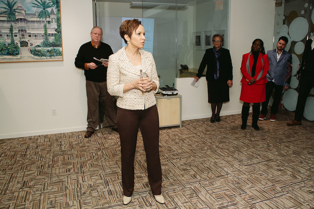 NEW YORK - March 27: Carra Wallace, Chief Diversity Officer for New York City Comptroller, at FOKAL's The Promise of Haiti II Event. Photographed March 27, 2015 at the Medici Group in NY, NY. 2015 © Cat Laine.