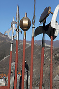 View of the Great Wall of China Ancient weapons on display