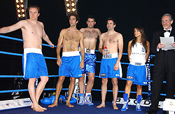 Left to right, FREDDY CROSSLEY, HUGH VAN CUTSEM, HARRY SIMPSON, JOHN MACKENZIE and LOUISE WHITE at the Boodles Boxing Ball in aid of the sports charity Sparks  organised by Jez lawson, James Amos and Charlie Gilkes held at The Royal Lancaster Hotel, Lancaster Terrae London W2 on 3rd June 2006.<br /> <br /> NON EXCLUSIVE - WORLD RIGHTS