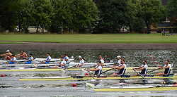Great Britain's Thomas Ford, Jacob Dawson, Adam Neill and James Johnston in the Men's Four heat two race during day one of the 2018 European Championships at the Strathclyde Country Park, North Lanarkshire.