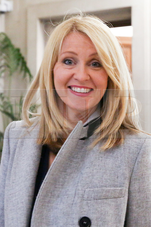 """© Licensed to London News Pictures. 10/06/2019. London, UK. Esther McVey MP, candidate for the leadership of the Conservative Party and to become Prime Minister arrives at the Bruges Group's """"Brexit Leadership"""" event in Westminster. The Bruges Group is a think tank based in the UK, it advocates for a restructuring of Britain's relationship with the European Union and other European countries. Photo credit: Dinendra Haria/LNP"""