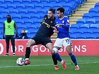 Football - 2020 / 2021 Sky Bet Championship - Cardiff City v Watford- Cardiff City Stadium<br /> <br /> Jeremy Ngakia Watford challenged by Josh Murphy Cardiff<br /> <br /> <br /> COLORSPORT/WINSTON BYNORTH
