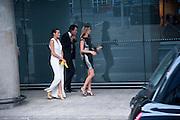 Yasmin Le Bon; Tim Jefferies; Malin Jefferies Ark fundraising dinner and auction. ( Absolute Return for Kids ) Old Eurostar Terminal. Waterloo Station. London. 4 June 2009