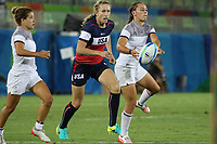 August 08, 2016; Rio de Janeiro, Brazil; USA Women's Eagles Sevens Carmen Farmer in action against France during the Women's Rugby Sevens 5th Place Play-Off match on Day 3 of the Rio 2016 Olympic Games at Deodoro Stadium. Photo credit: Abel Barrientes - KLC fotos