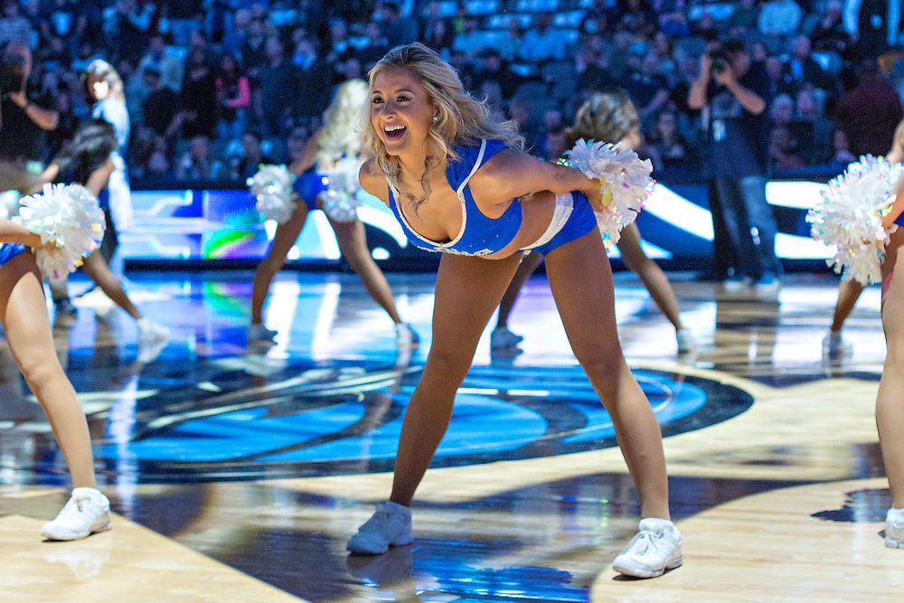 DALLAS, TX - JANUARY 12:  Dancers for the Dallas Mavericks performs during a game against the Cleveland Cavaliers at American Airlines Center on January 12, 2016 in Dallas, Texas.  NOTE TO USER: User expressly acknowledges and agrees that, by downloading and or using this photograph, User is consenting to the terms and conditions of the Getty Images License Agreement.  The Cavaliers defeated the Mavericks 110-107.  (Photo by Wesley Hitt/Getty Images) *** Local Caption ***