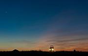 Game drive in Maasai Mara (Kenya) early one morning as the planet Venus rises in the east before the sun breakes the horizon.