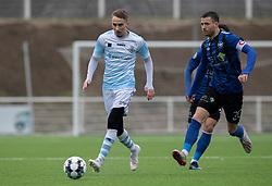 Lucas Haren (FC Helsingør) og Martin Vingaard (HB Køge) under træningskampen mellem FC Helsingør og HB Køge den 22. februar 2020 på Helsingør Ny Stadion (Foto: Claus Birch).