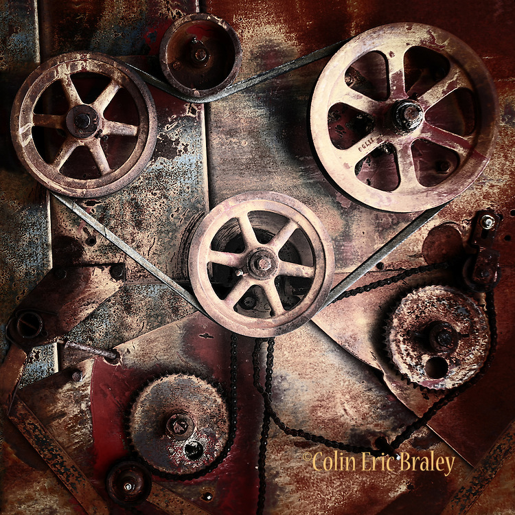 Wheels and Gears from Antique Combine Wall Art