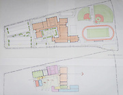 Architect drawings on display during a design charrette for Houston MSTC, April 24, 2015.