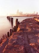 Chicago skyline from Fullerton Ave.