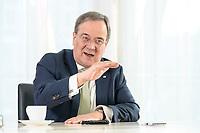 27 NOV 2020, BERLIN/GERMANY:<br /> Armin Laschet, CDU, Ministerpraesident Nordrhein-Westfalen, waehrend einem Interview, Landesvertretung Nordrhein-Westfalen<br /> IMAGE: 20201127-01-029