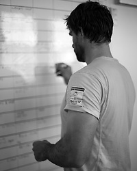 Artemis Racing sailing team in the Gym, 21st of February 2013, Alameda, USA