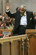 New York, NY- July 20: U.S. Congressman Charles Rangel attends the preaching of ' God is Here ' a sermon preached by Rev. Al Sharpton held at the historic Riverside Church on July 20, 2014 in New York City.  (Terrence Jennings)