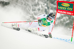 Johannes Strolz of Austria? during 2nd run of Men's Giant Slalom race of FIS Alpine Ski World Cup 57th Vitranc Cup 2018, on March 3, 2018 in Podkoren, Kranjska Gora, Slovenia. Photo by Ziga Zupan / Sportida