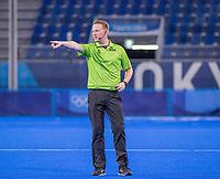 TOKIO - /scheidsrechter Coen van Bunge  tijdens de hockey finale mannen, Australie-Belgie (1-1), België wint shoot outs en is Olympisch Kampioen,  in het Oi HockeyStadion,   tijdens de Olympische Spelen van Tokio 2020. COPYRIGHT KOEN SUYK