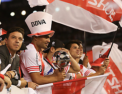 10.12.2014, River Plate Stadium, Buenos Aires, ARG, Südamerika Cup 2014, River Plate vs Atletico Nacional de Medellin, im Bild River Plate players and the coach Marcelo Gallardo (left) and Gabriel Mercado(with the cup) from argentinian?s football team, celebrates its tryumph // during the 2nd final match of Southamerican Cup between River Plate vs Atletico Nacional and Medellin at the River Plate Stadium in Buenos Aires, Argentina on 2014/12/10. EXPA Pictures © 2014, PhotoCredit: EXPA/ Eibner-Pressefoto/ Cezaro<br /> <br /> *****ATTENTION - OUT of GER*****