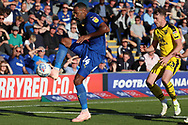 AFC Wimbledon midfielder Liam Trotter (14) controlling the ball during the EFL Sky Bet League 1 match between AFC Wimbledon and Oxford United at the Cherry Red Records Stadium, Kingston, England on 29 September 2018.