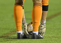 February 20, 2019 - Sheffield, United Kingdom - A generic image of the feet and hands of Nikki Davies (Sheffield United goalkeeper) as she prepares a goal kick        during the  FA Women's Championship football match between Sheffield United Women and Manchester United Women at the Olympic Legacy Stadium, on February 20th Sheffield, England. (Credit Image: © Action Foto Sport/NurPhoto via ZUMA Press)