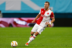 October 4, 2018 - Saint Petersburg, Russia - Vladimir Coufal of SK Slavia Prague in action during the Group C match of the UEFA Europa League between FC Zenit Saint Petersburg and SK Sparta Prague at Saint Petersburg Stadium on October 4, 2018 in Saint Petersburg, Russia. (Credit Image: © Mike Kireev/NurPhoto/ZUMA Press)