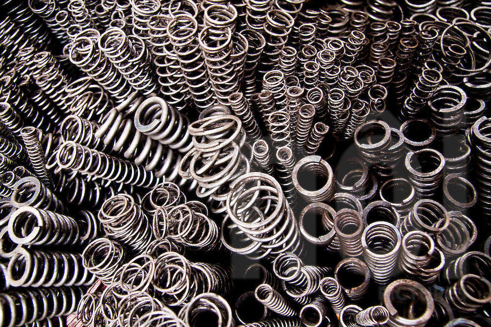 Various sizes of spring for sale in a hardware market in Hanoi, Vietnam