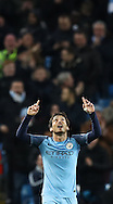 David Silva of Manchester City celebrates during the English Premier League match at The Etihad Stadium, Manchester. Picture date: December 12th, 2016. Photo credit should read: Lynne Cameron/Sportimage