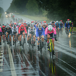 Peloton – Querformat - quer - horizontal - Landscape - Event/Veranstaltung: Liège Bastogne Liège - Category/Kategorie: Cycling - Road Cycling - Elite Women - Elite Men - Location/Ort: Europe – Belgium - Wallonie - Liège - Start: Bastogne-Womens Race - Liège-Mens Race - Finish: Liège - Discipline: Road Cycling - Distance: 257 km - Mens Race - 135 km - Womens Race - Date/Datum: 04.10.2020 – Sunday - Photographer: © Arne Mill - frontalvision.com
