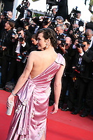 Milla Jovovich at the On The Road gala screening red carpet at the 65th Cannes Film Festival France. The film is based on the book of the same name by beat writer Jack Kerouak and directed by Walter Salles. Wednesday 23rd May 2012 in Cannes Film Festival, France.