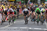 Sykkel<br /> Foto: PhotoNews/Digitalsport<br /> NORWAY ONLY<br /> <br /> Sprint of (fltr) BOASSON HAGEN Edvald of MTN - Qhubeka, KRISTOFF Alexander of Team Katusha, CAVENDISH Mark of Etixx - Quick Step, GREIPEL Andre of Lotto Soudal and SAGAN Peter of Tinkoff - Saxo during the stage 5 of the 102nd edition of the Tour de France 2015 with start in Arras and finish in Amiens, France (189 kms) *** AMIENS, FRANCE - 8/07/2015