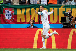 June 20, 2018 - Moscow, Russia - 180620 Cristiano Ronaldo of Portugal celebrates after scoring 1-0 during the FIFA World Cup group stage match between Portugal and Morocco on June 20, 2018 in Moscow..Photo: Petter Arvidson / BILDBYRÃ…N / kod PA / 92072 (Credit Image: © Petter Arvidson/Bildbyran via ZUMA Press)