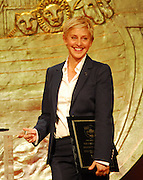 Ellen Degeneres and her wife Portia deRossi accept the Wyler Award for their work with the Humane Society at the 23rd Annual Genesis Awards Saturday night March 28,2009.Photo© Suzi Altman. ALL IMAGES ©SUZI ALTMAN. IMAGES ARE NOT PUBLIC DOMAIN. CALL OR EMAIL FOR LICENSE, USE, OR TO PURCHASE PRINTS 601-668-9611 OR EMAIL SUZISNAPS@AOL.COM