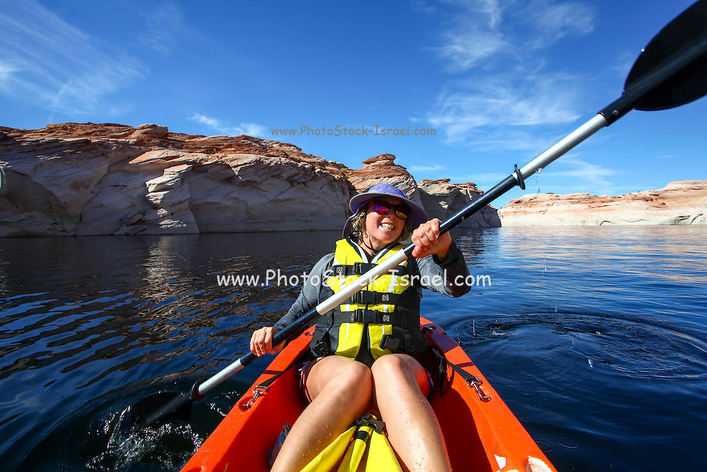 Lake Powell and the Glen Canyon National Recreation area Arizona, USA Model release available