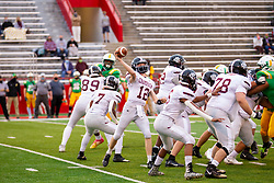 16 April 2021: Champaign Central Maroons at University High Pioneers at Hancock Stadium for a boys football game