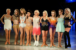 Dancing on Ice Photocall Sheffield Motorpoint Arena .Denise Welch, Laura Hamilton, Chloe Madeley, Hayley Tamaddon, Jane Torvill, Brianne Delcourt, Frankie Poultney and Katie Stainsby.7 April 2011.Images © Paul David Drabble