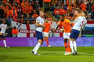 Goal Netherlands Defender Matthijs de Ligt (Ajax) scores a goal 1-1 during the UEFA Nations League semi-final match between Netherlands and England at Estadio D. Afonso Henriques, Guimaraes, Portugal on 6 June 2019.