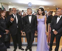 September 2, 2017 - Venice, California, Italy - GEORGE CLOONEY and AMAL CLOONEY at the Venice Film Festival prior to premiere of 'Suburbicon.' (Credit Image: © Armando Gallo via ZUMA Studio)