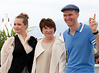Kristina Schneider, Larisa Sadilova and Egor Barinov at Once in Trubchevsk film photo call at the 72nd Cannes Film Festival, Thursday 23rd May 2019, Cannes, France. Photo credit: Doreen Kennedy