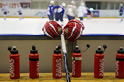 Gloves during Media day of Slovenian Ice Hockey National Team before World Championships Group A in Sweden, Stockholm, on April 29, 2013, in Ice arena Tabor, Maribor, Slovenia. (Photo By Vid Ponikvar / Sportida.com)