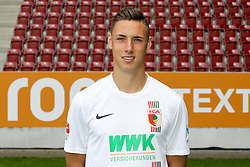 08.07.2015, WWK Arena, Augsburg, GER, 1. FBL, FC Augsburg, Fototermin, im Bild Dominik Kohr #21 (FC Augsburg) // during the official Team and Portrait Photoshoot of German Bundesliga Club FC Augsburg at the WWK Arena in Augsburg, Germany on 2015/07/08. EXPA Pictures © 2015, PhotoCredit: EXPA/ Eibner-Pressefoto/ Kolbert<br /> <br /> *****ATTENTION - OUT of GER*****