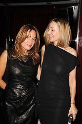Left to right, sisters EMILY OPPENHEIMER-TURNER and  SOPHIE LUSSIER at a dinner to celebrate the work of Malaria No More UK held at Hakkasan Mayfair, 17 Bruton Street, London W1 on 16th November 2010.