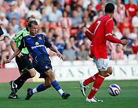 Photo: Steve Bond/Richard Lane Photography. Nottingham Forest v Sunderland. Pre Season Friendy. 29/07/2008. Teemu Tianio (L) plays a through ball