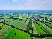 Nederland, Overijssel, GemeenteTubbergen; 21–06-2020; Landschap bij Manderveen, landelijk en agrarisch gebied<br /> Landscape near Manderveen, rural and agricultural country side.<br /> <br /> luchtfoto (toeslag op standaard tarieven);<br /> aerial photo (additional fee required)<br /> copyright © 2020 foto/photo Siebe Swart