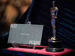 March 4, 2018 - Hollywood, California, U.S. - The Best Picture envelope during the live ABC telecast of the 90th Oscars at the Dolby Theatre in Hollywood. (Credit Image: ? Matt Sayles/AMPAS via ZUMA Wire/ZUMAPRESS.com)